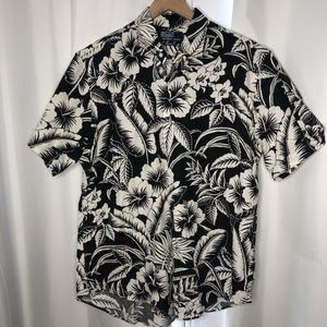 POLO by RALPH LAUREN Men Floral Shirt L-Black/Whit